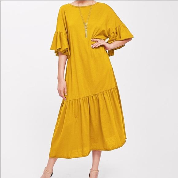 45fcd81afb7a9c Dresses | Mustard Yellow Drop Waist Dress Gorgeous | Poshmark